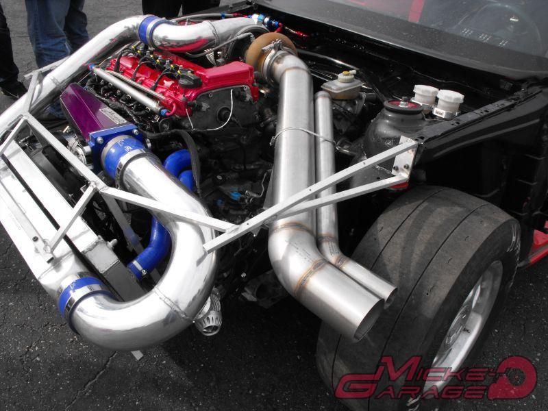 Opel Calibra Tsunami with 1400 HP Twin VR6 engines