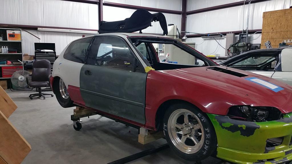RWD Honda Civic with turbo V8