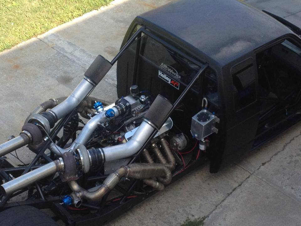 The Stretchy Truck: Chevy S10 with a Mid-engine Twin-turbo