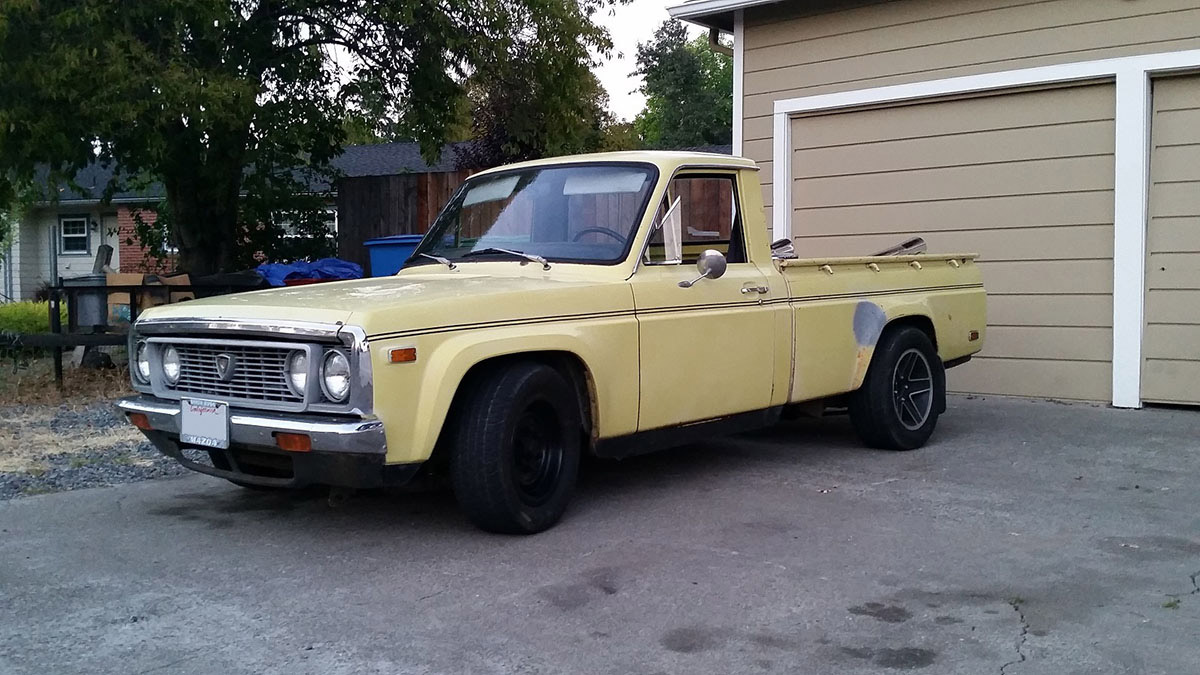 Mazda Truck With A Oldsmobile 455 In The Bed Engine Swap