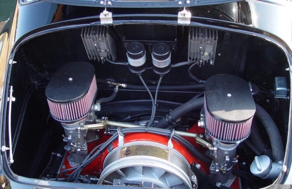 2.5 L  911 engine inside 1958 Porsche 356 Emory Special