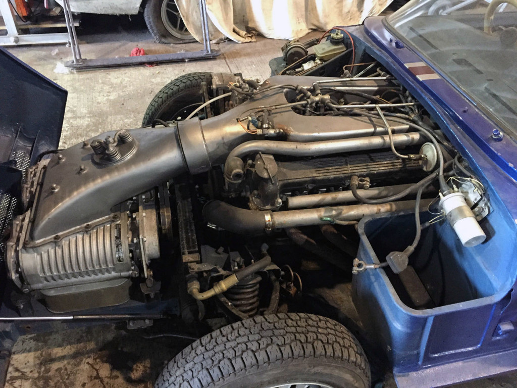 Triumph Spitfire Mk3 with a Twin-supercharged  Jaguar V12
