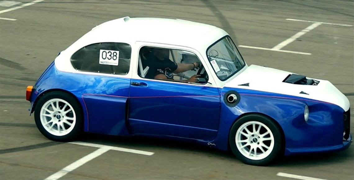 Custom Fiat Abarth With Twin Hayabusa Engines Engine