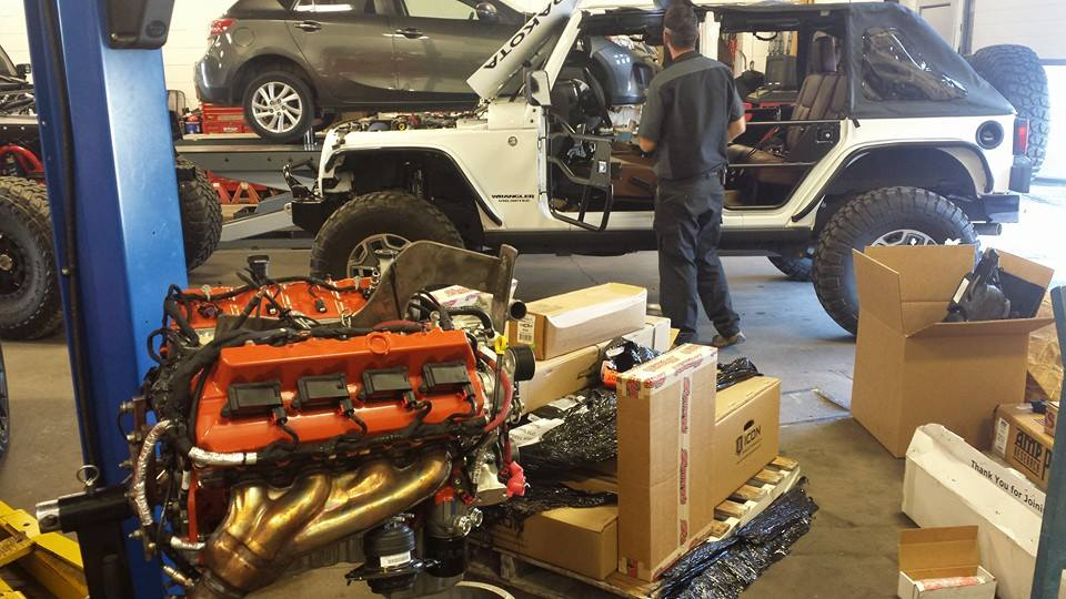 Building Two Jeep Wranglers with a Hellcat V8 – Engine