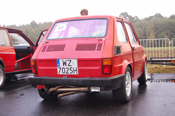 Fiat 126P with a 2.3 L H4