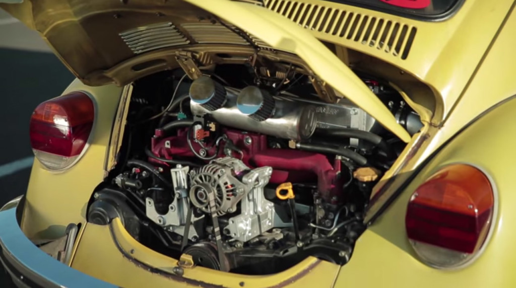 Mighty Car Mods' Sleeper 1974 Beetle with a EJ25