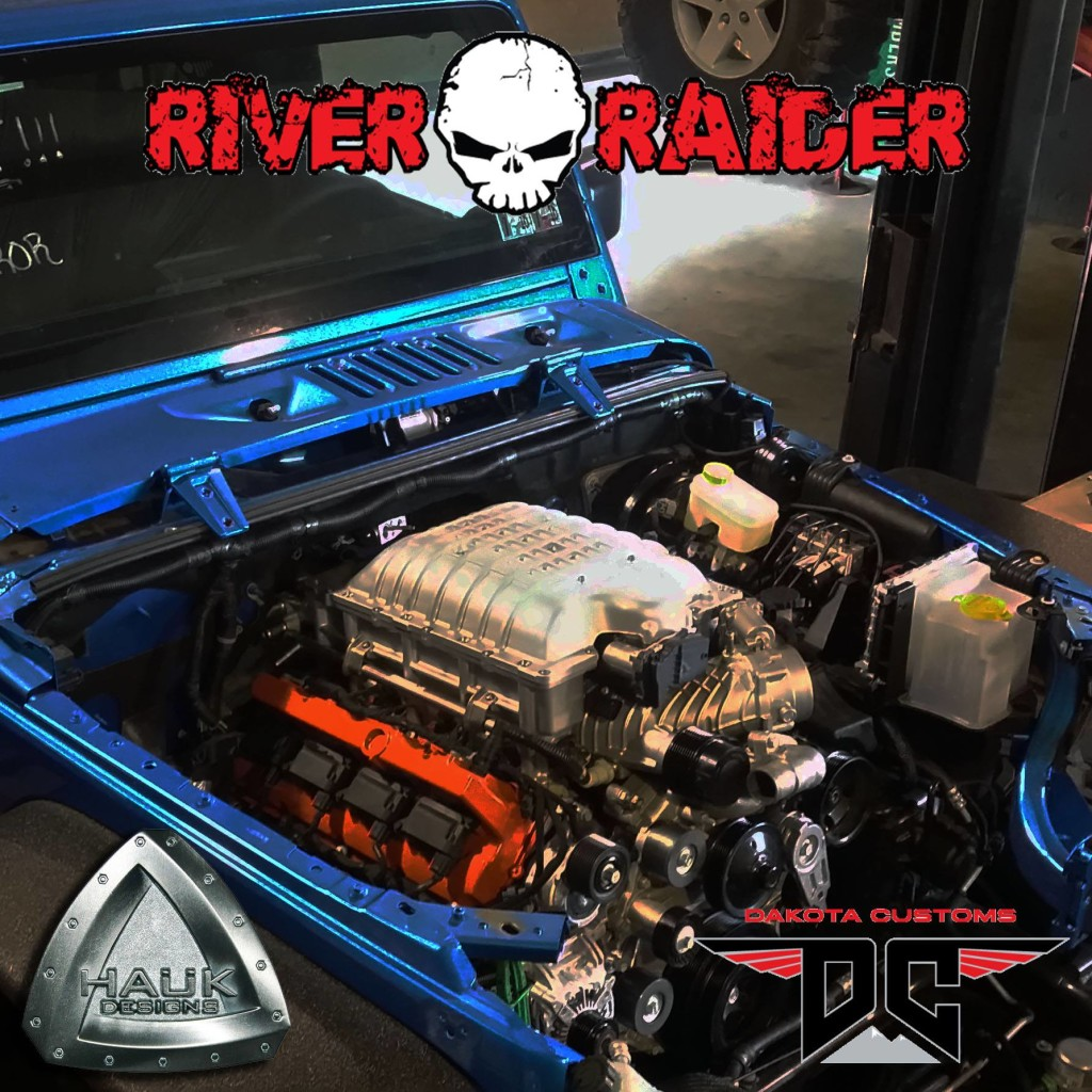 River Raider Off-road's Jeep Wrangler with a Hellcat V8