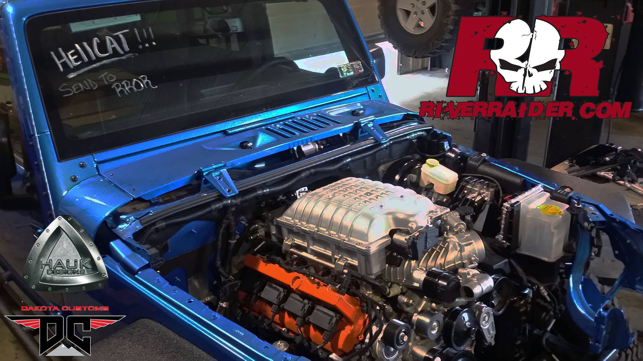 Building Two Jeep Wranglers With A Hellcat V8