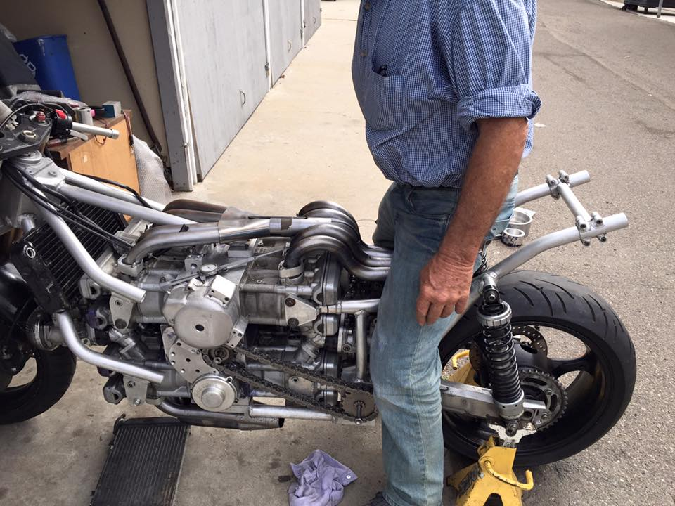 Andreas Georgeades' H16 Powered Motorcycle Update