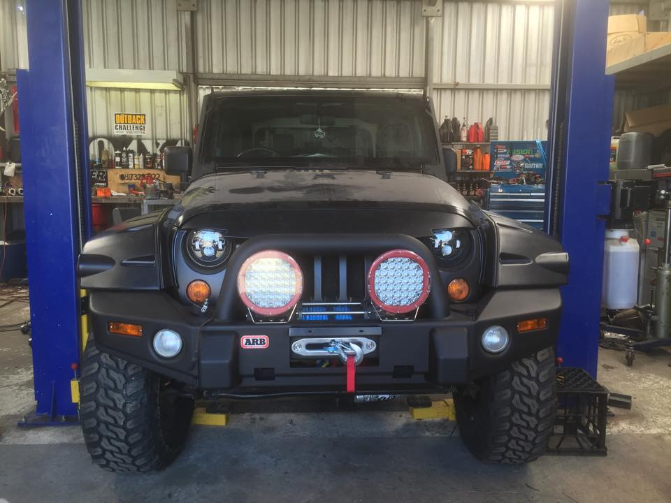Jeep JK with a turbo LS3 V8 01