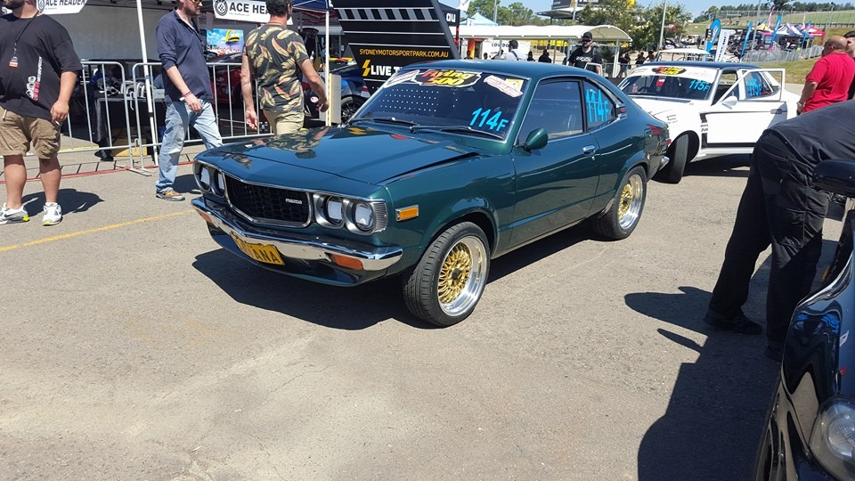 Mazda RX-3 with a 26B Quad-rotor