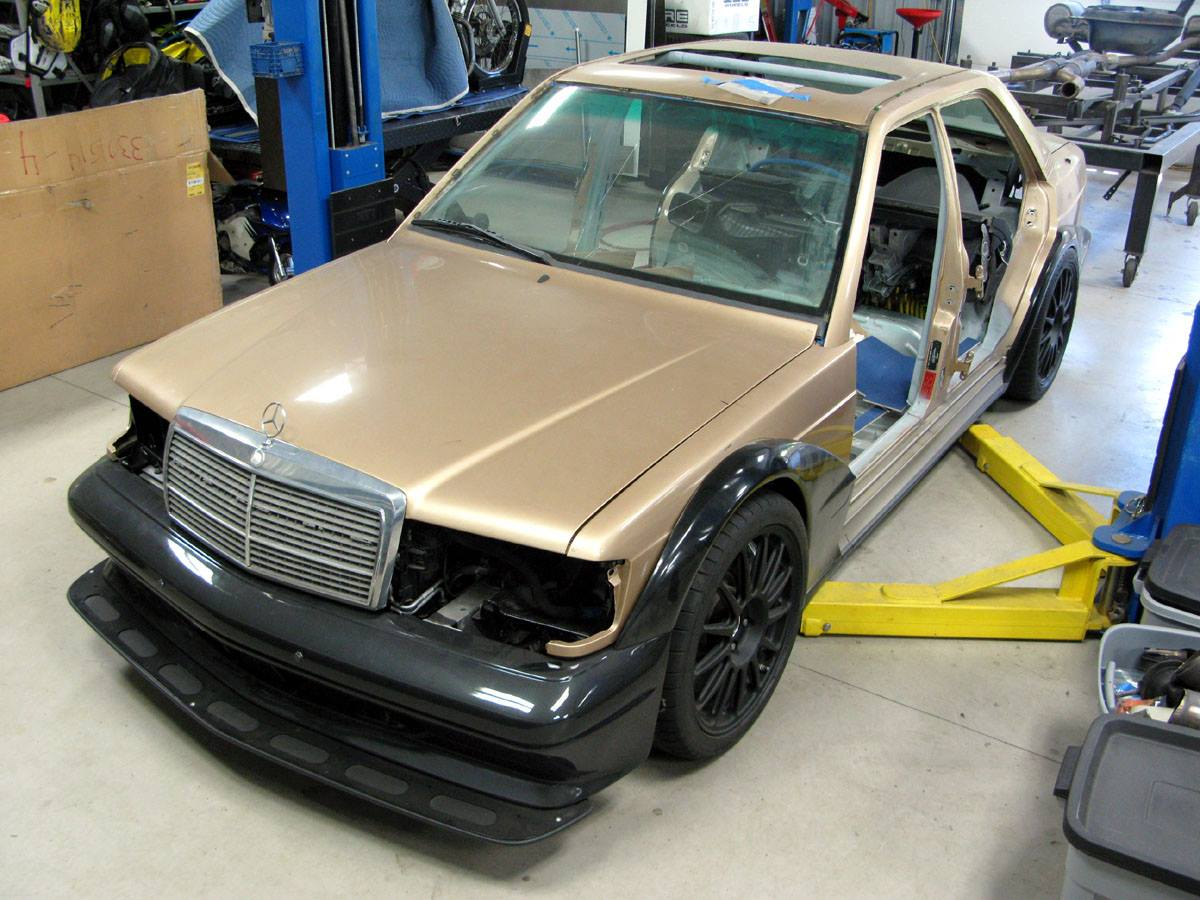 Mercedes 190e Wrapped Around A C63 Amg Engine Swap Depot Merc Wiring Harness Piper Motorsport Has Built Frankenstein Benz By Installing Everything From Including Transmission Driveline Suspension Brakes
