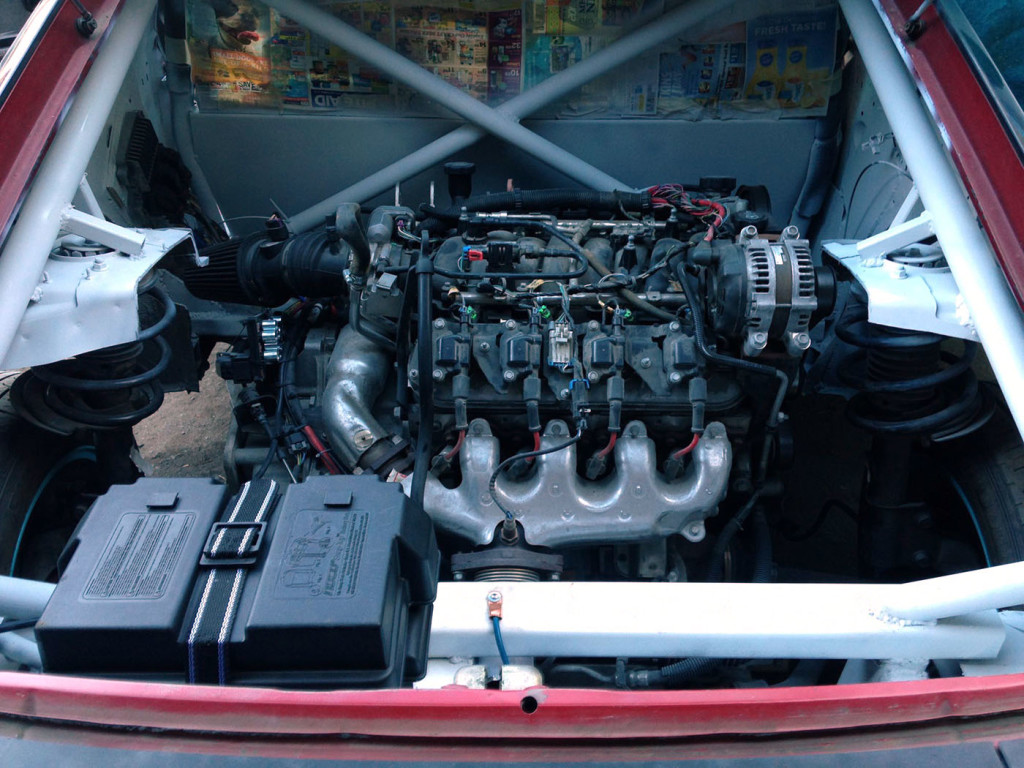 Nissan 240SX with a Mid-engine LS4 V8