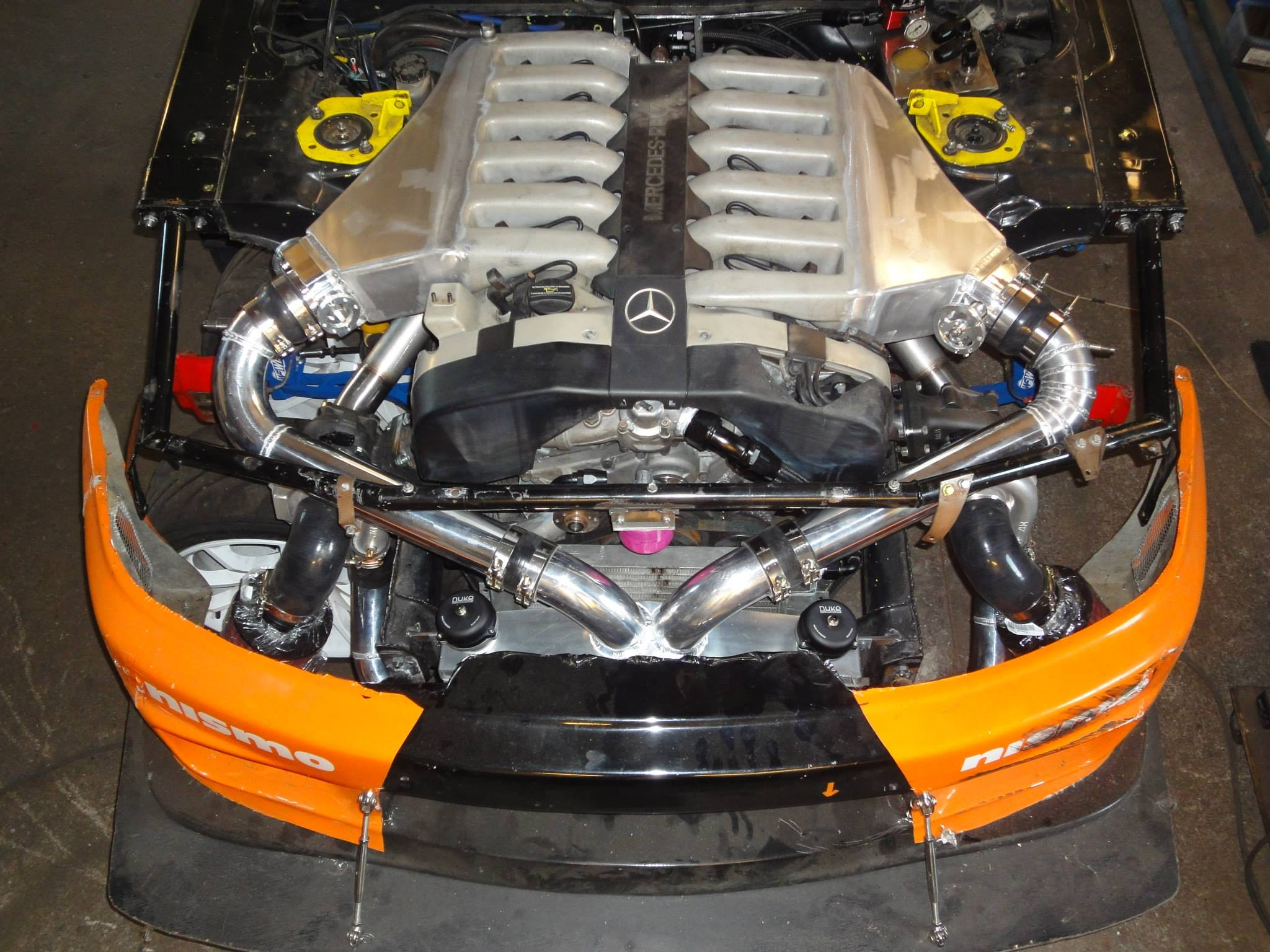 Nissan r33 with a twin turbo mercedes v12 for Mercedes benz v12 twin turbo