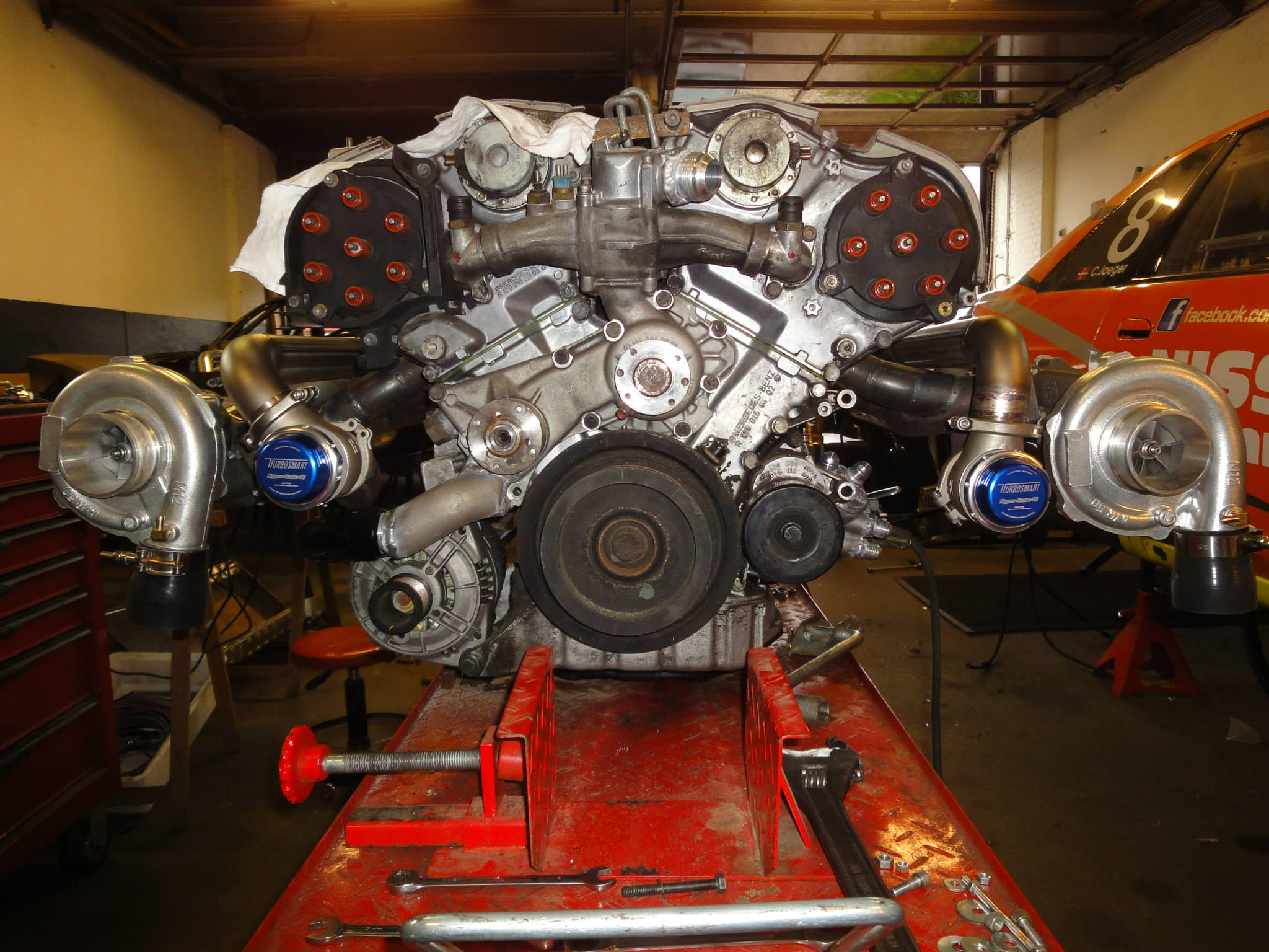 Nissan r33 with a twin turbo mercedes v12 engine swap depot for Mercedes benz v 12 engine