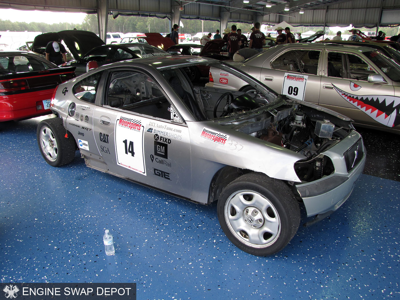 First Team Subaru >> Wreck Racing's Honda Insight with a Subaru Flat-six – Engine Swap Depot