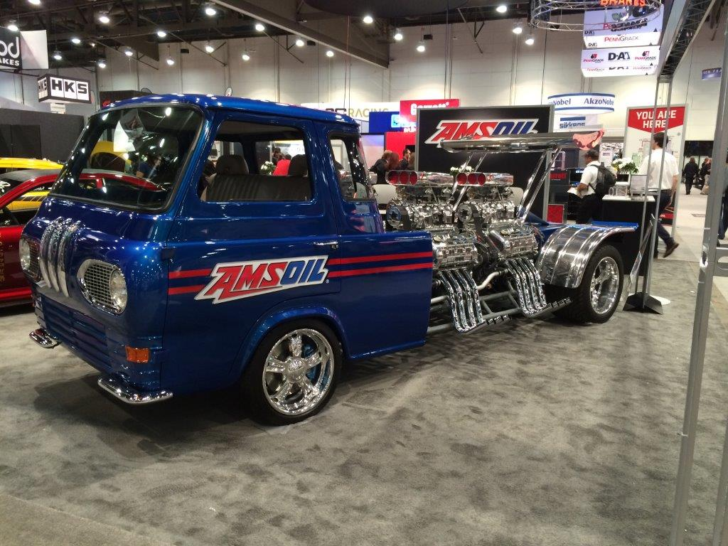 1962 Ford Econoline Truck with four supercharged Ford 4.6 L V8 engines