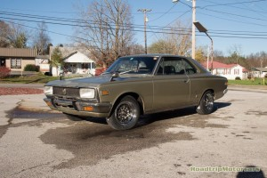 JDM 1970 Toyota Crown with a 2JZ-GE and triple Weber carbs