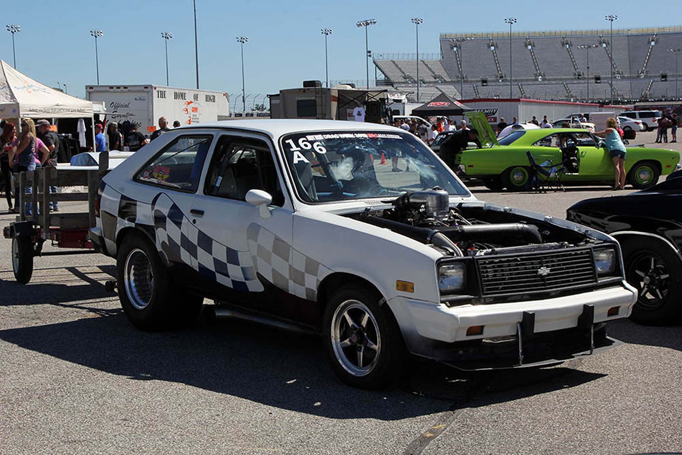 Small cars and big motors always make for an interesting and fun combination don foess brought his very powerful 1985 chevrolet chevette to drag week