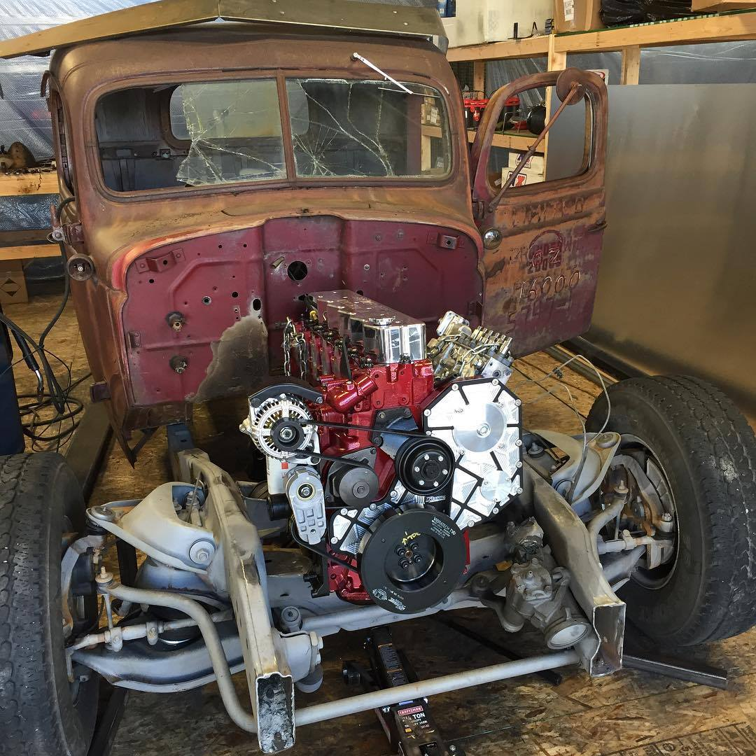 Dodge Hot Rod With A 1300 Hp Cummins I6 Engine Swap Depot Street Wiring Harness Kit The Team Then Installed An Ats 5000 And 8000 Compound Turbocharging Nitrous System Six Bottles