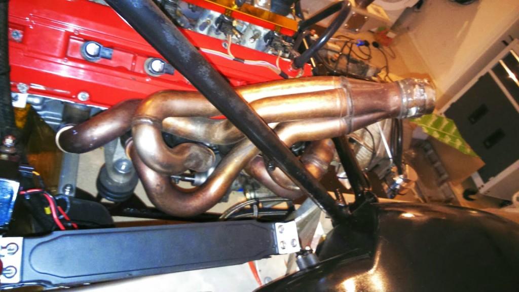 exhaust headers made for a Ferrari F355 V8