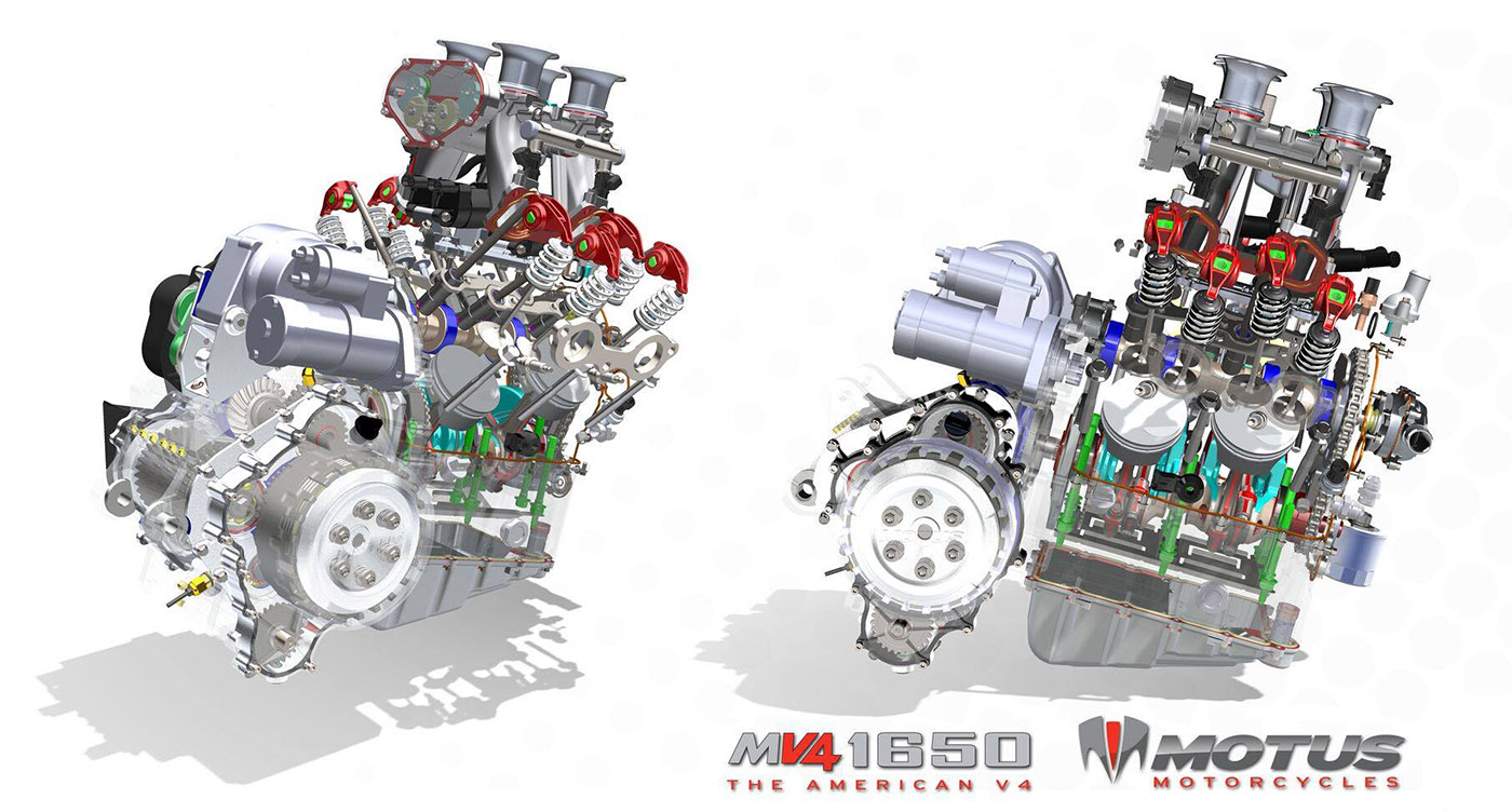 Motus V Baby Block Cut Away Architecture on V4 Crate Engine