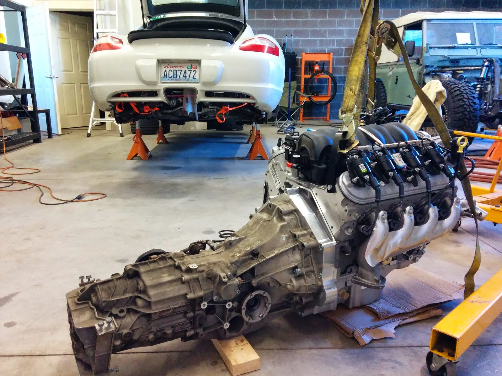 porsche cayman with a ls3 engine swap depot