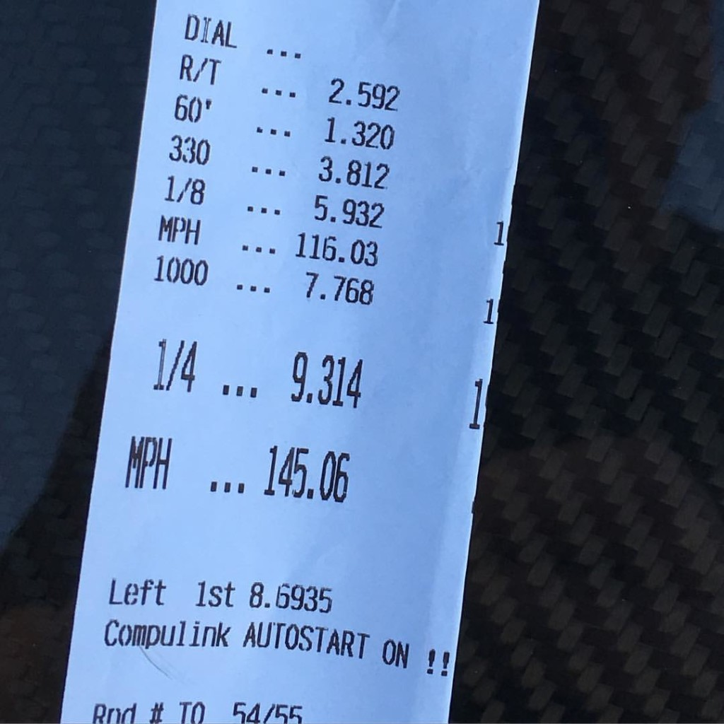 Pure Automotive 2JZ powered FRS sets North American Record time slip