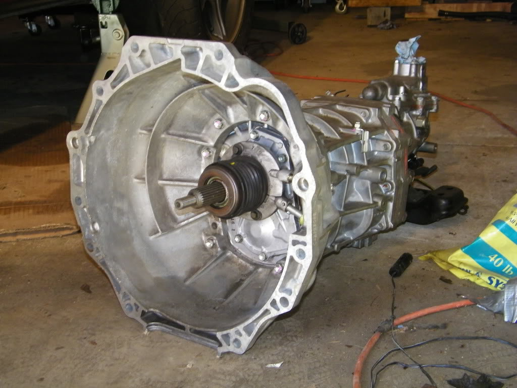 AR5 five-speed manual transmission from a Pontiac Solstice with Hummer H3 bellhousing