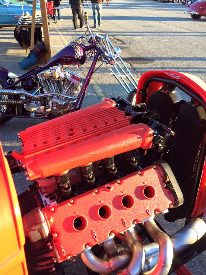 Custom 1932 Ford with a Twin-turbo 2.9 L Ferrari V8