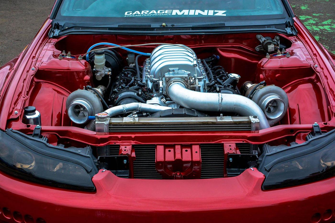Nissan S15 with a Twin-turbo 1UZ-FE – Engine Swap Depot