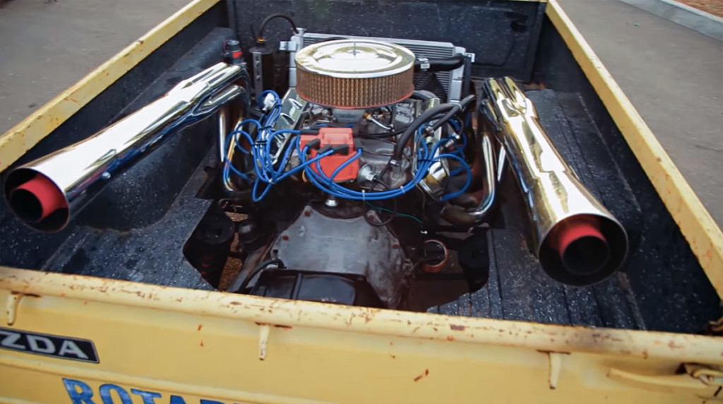 Roadkill's 1974 Mazda Truck With an Oldsmobile 455ci V8 in the bed