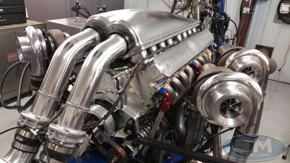 Steve Morris Engines Builds a Quad-turbo V16