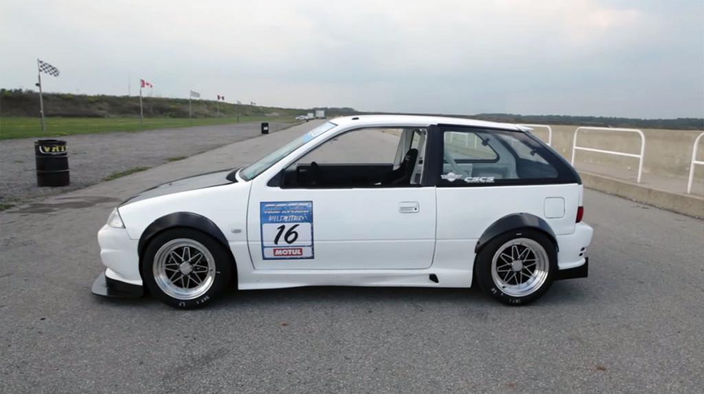 Kevin Stittle's Suzuki Swift with a 1.3 L G13B