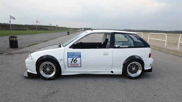 Kevin Stittle's Suzuki Swift with a 1.3 L G13B
