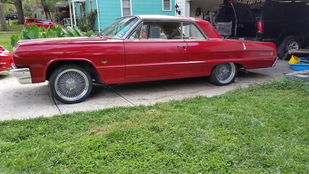 1964 Impala getting ready to receive a 7.5 L LSx V10