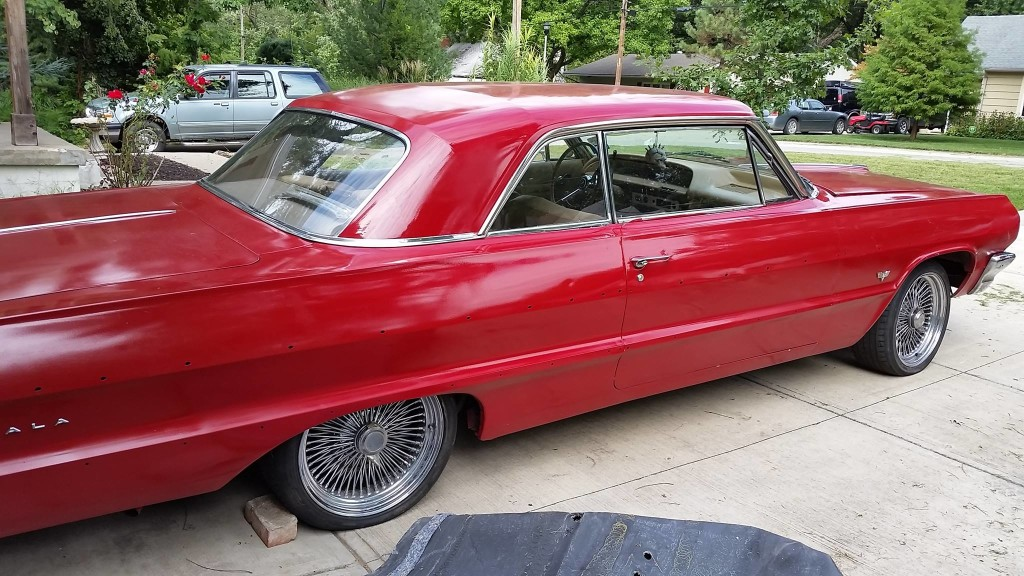 1964 Impala getting ready to receive a 7.5 L  LSx V10
