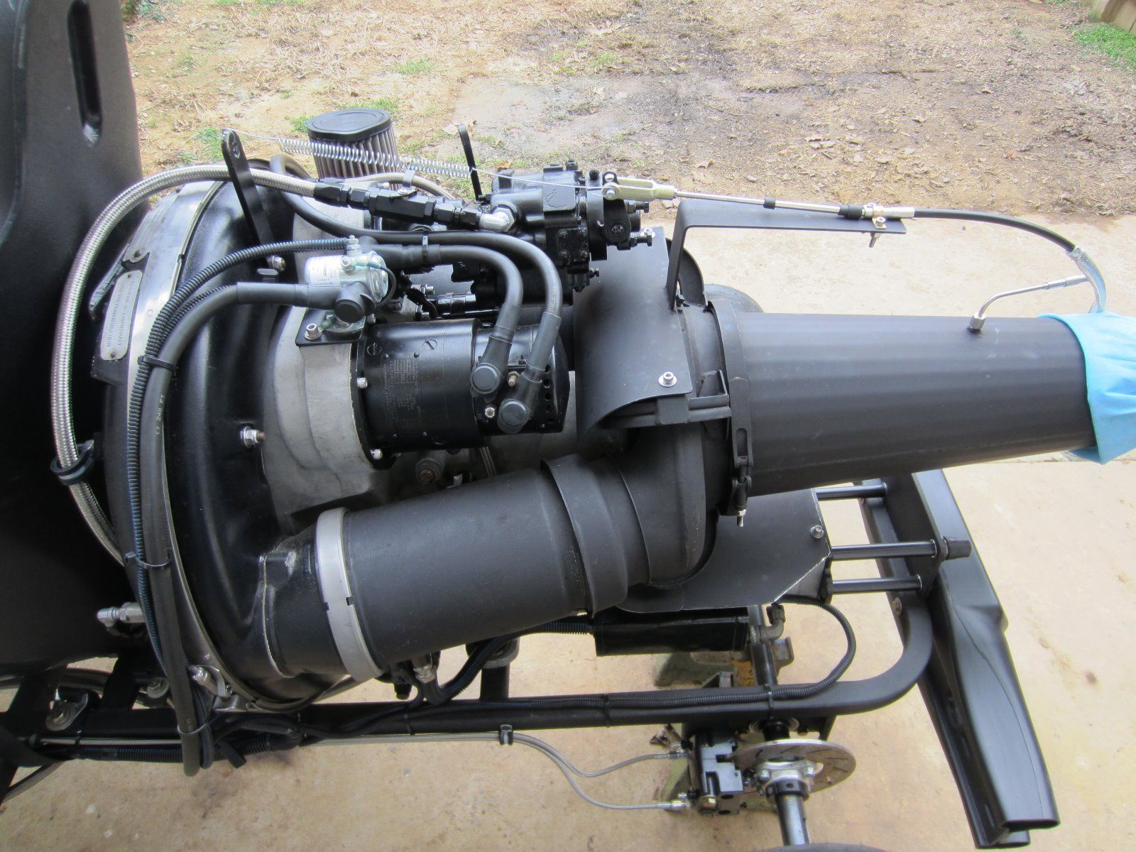 Go Kart with a Gas Turbine Engine – Engine Swap Depot
