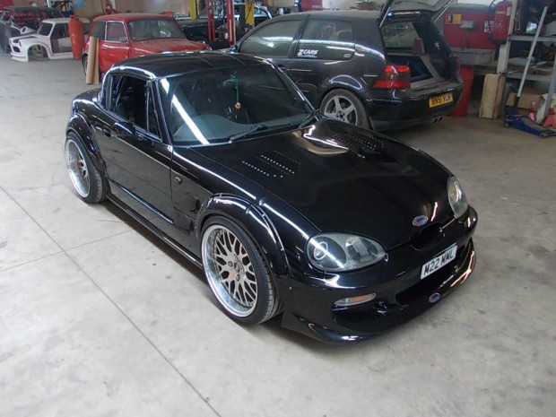 Suzuki Cappuccino with a turbocharged Hayabusa 1.3 L inline-four