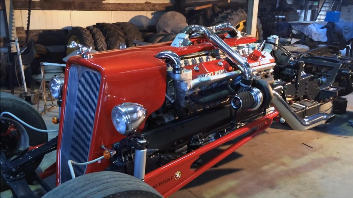 Twin-turbo V16 Detroit Diesel 16V-72 Hot Rod