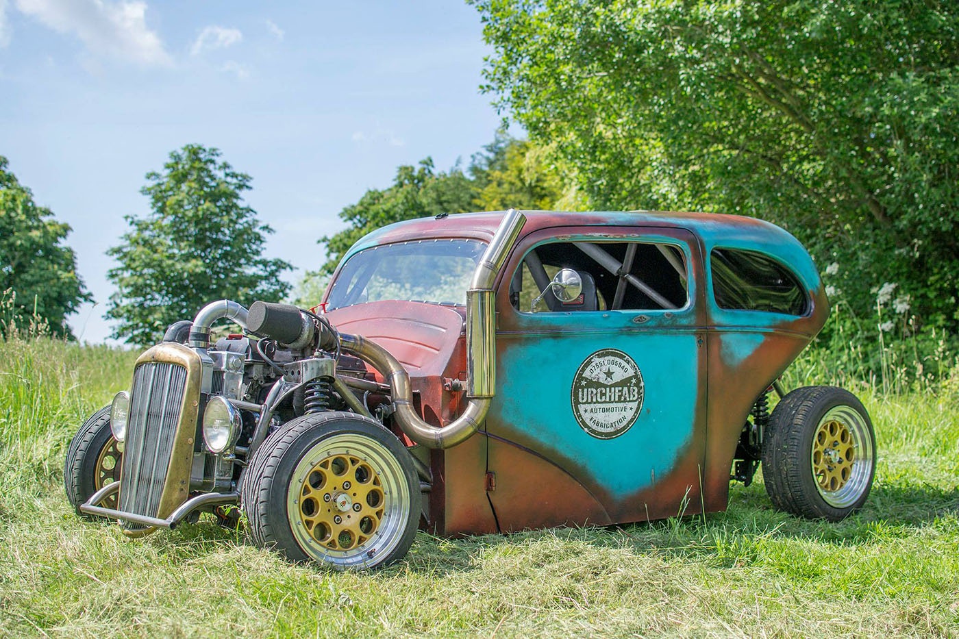 Drift Rod Created From A 1953 Ford Popular Body And A Saab