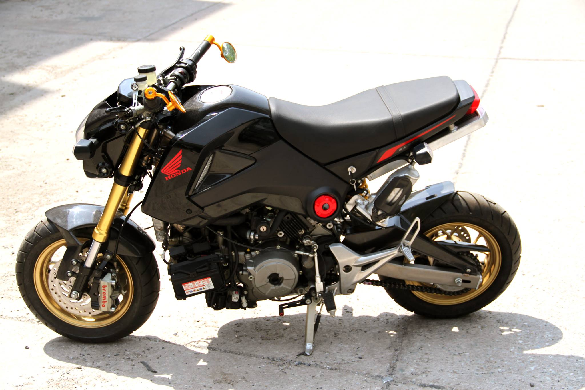 honda grom with a ducati 1199 panigale r engine engine. Black Bedroom Furniture Sets. Home Design Ideas