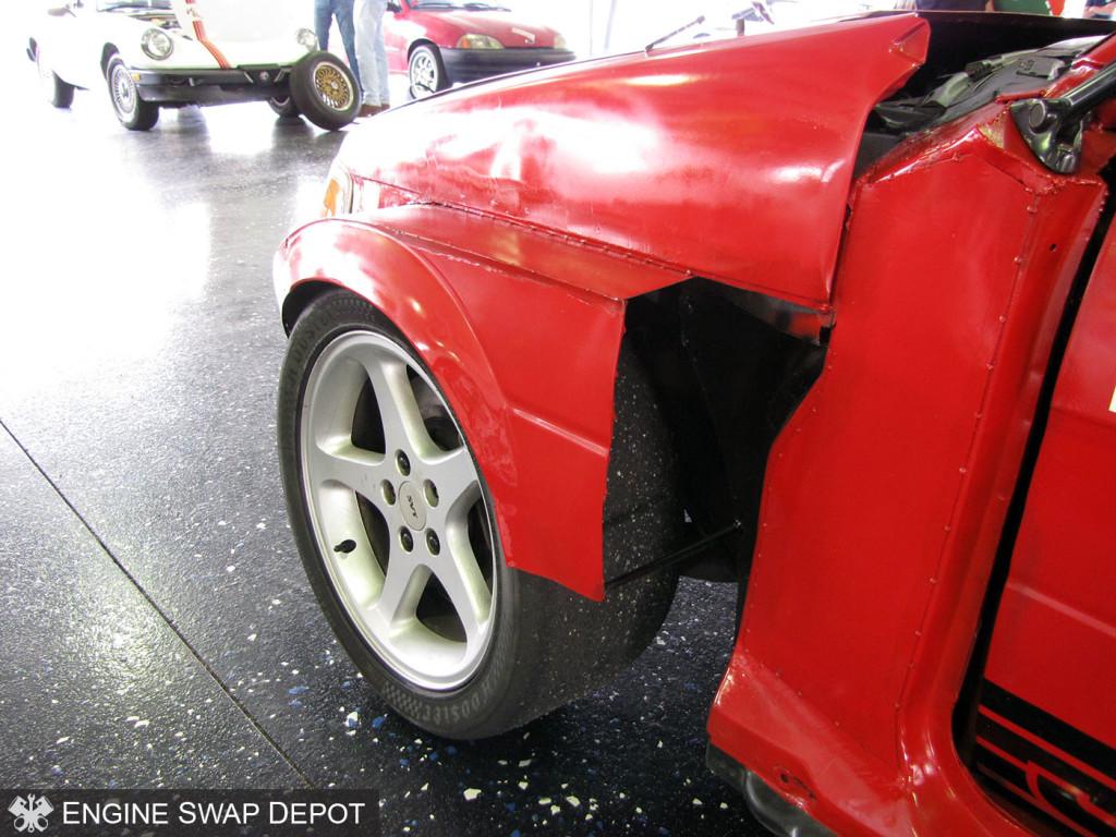 Justang 1993 Subaru Justy with a 1999 Mustang Cobra Drivetrain