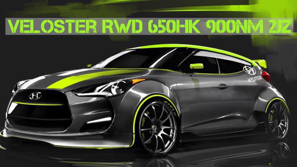 RWD Hyundai Veloster with a 2JZ