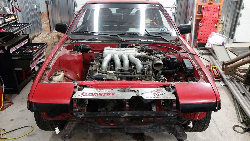 Toyota AE86 with a Nissan VH45DE V8