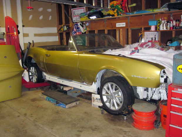 1967 Pontiac Firebird body over a 2014 Toyota Prius chassis