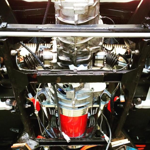 1978 Ferrari 308 GTS with three AC51 HPEVS electric motors