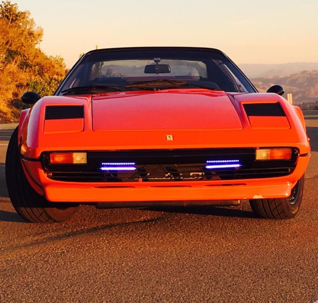 1978 Ferrari 308 GTS with three AC51 HPEVS electric motors