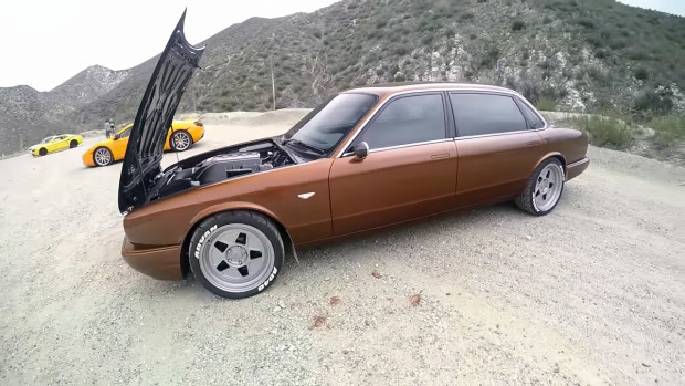 Jaguar XJ8L with a LS3 V8 with LS9 heads