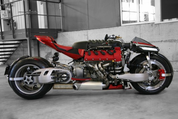 Lazareth LM 847 Motorcycle with a Maserati V8